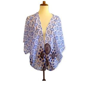 Society Girl Kimono Dolman Sleeve Boho Aztec Print